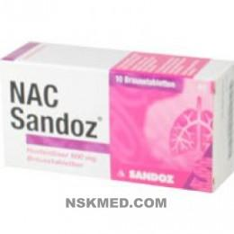 NAC SANDOZ HUSTEN600MG BTA