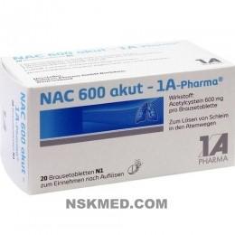NAC 600 akut 1A Pharma Brausetabletten 20 St
