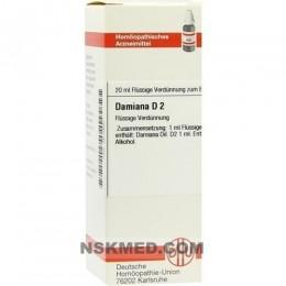 DAMIANA D 2 Dilution 20 ml