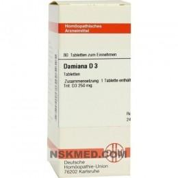 DAMIANA D 3 Tabletten 80 St