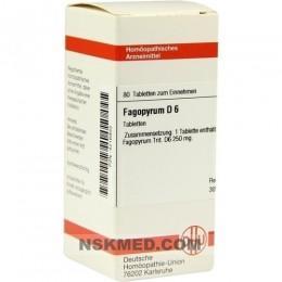 FAGOPYRUM D 6 Tabletten 80 St
