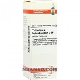 YOHIMBINUM HYDROCHLORICUM D 30 Dilution 20 ml