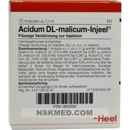ACIDUM DL-malicum Injeel Ampullen 10 St