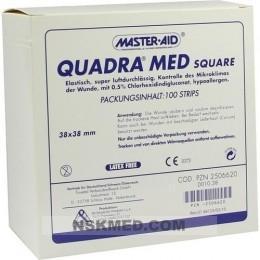 QUADRA MED square 38x38 mm Strips Master Aid 100 St