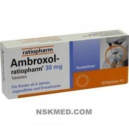AMBROXOL ratiopharm 30 mg Hustenlöser Tabletten 20 St