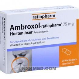 AMBROXOL ratiopharm 75 mg Hustenlöser Retardkaps. 20 St