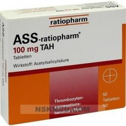 ASS ratiopharm 100 mg TAH Tabletten 50 St