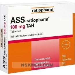 ASS ratiopharm 100 mg TAH Tabletten 100 St