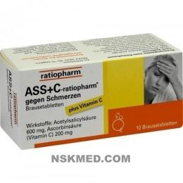 ASS + C ratiopharm gegen Schmerzen Brausetabletten 10 St